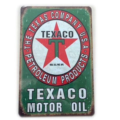 plaque texaco vintage