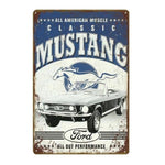 plaque vintage ford mustang