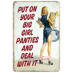 plaque vintage pin up