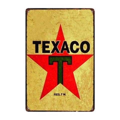 plaque vintage texaco