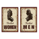 plaque vintage toilette