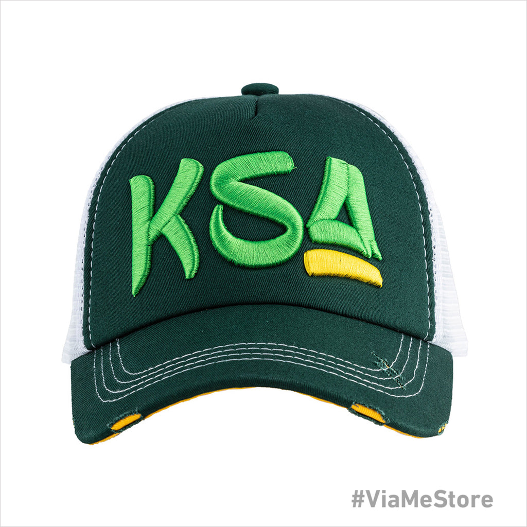 Capster KSA Mens Cap - Green-White