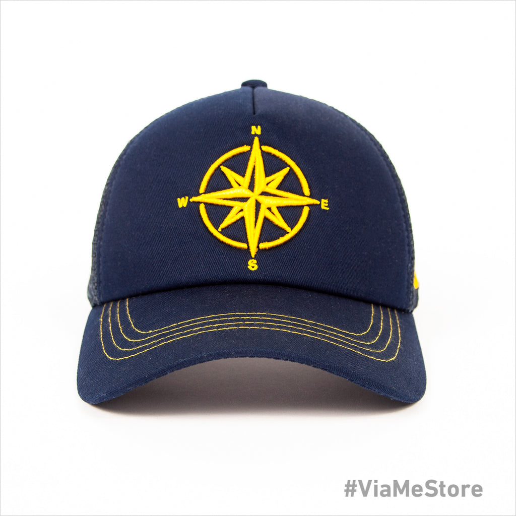 Blue Paralia Compass Mens Cap
