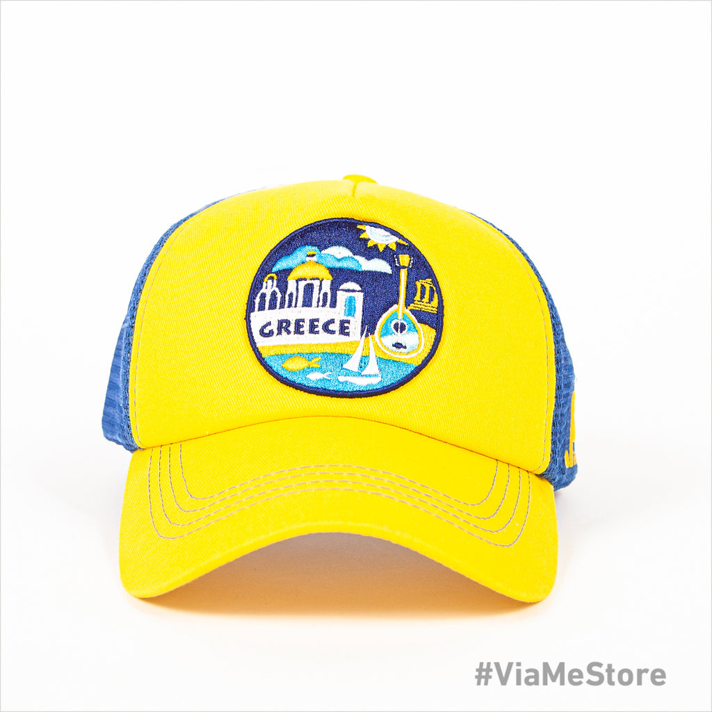 Yellow Paralia Greece Mens Cap