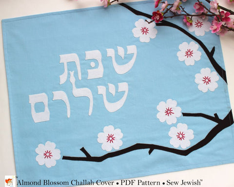 Challah Cover - PDF Sewing Pattern - Almond Blossoms