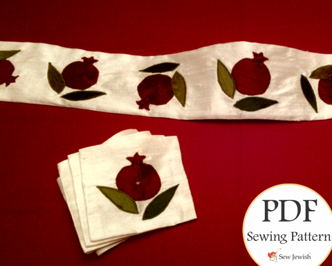 Pomegranate Atarah and Corner Piece for Tallit | PDF Pattern
