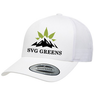 SVG Greens Yupoong - Classics™ Five-Panel Retro Trucker Cap (White)