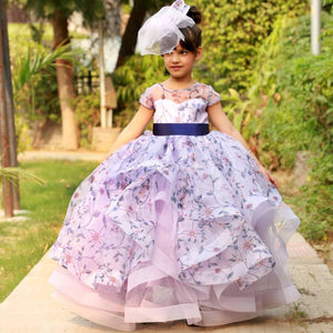 Lavender Kiss Ruffled Gown