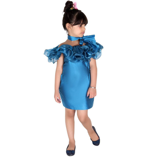 Blue Magic Ruffled Dress