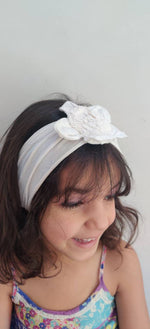 Load image into Gallery viewer, Pearl White Bandana Headband