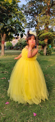 Yellow Lily Party Dress