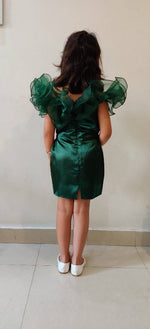 Load image into Gallery viewer, Lush Green Ruffled Dress