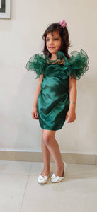 Lush Green Ruffled Dress
