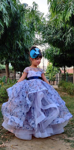 Load image into Gallery viewer, Lavender Kiss Ruffled Gown