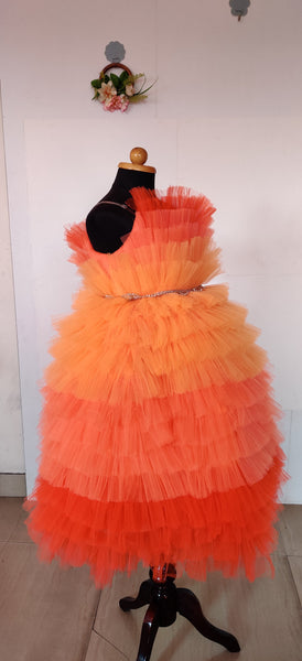Sunset Ruffled Party Dress