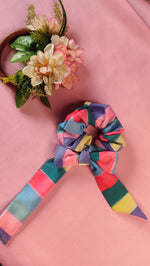 Load image into Gallery viewer, Rainbow Scarf Scrunchie