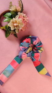 Rainbow Scarf Scrunchie