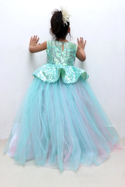 Seagreen hilow kids birthday dress