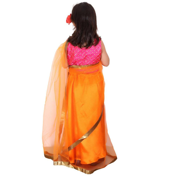 Festive Dazzle Kids Saree