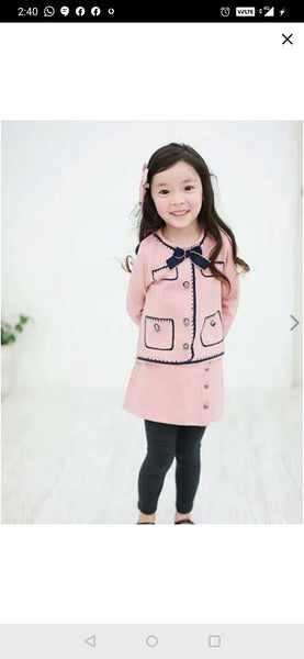 Mini Miss Pink and Grey Set (with leggings)