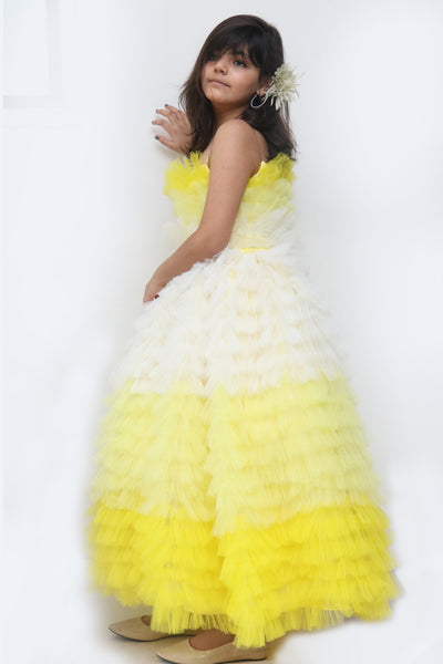 Sunkiss Ruffled Party Gown