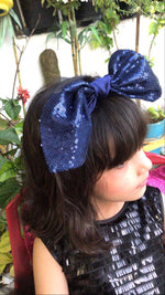 Load image into Gallery viewer, Jazz n Shimmer Blue Bow