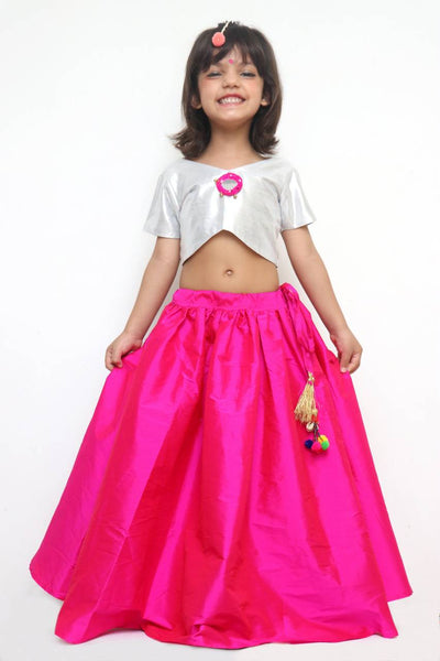 Pink Sparkler Skirt Choli Set