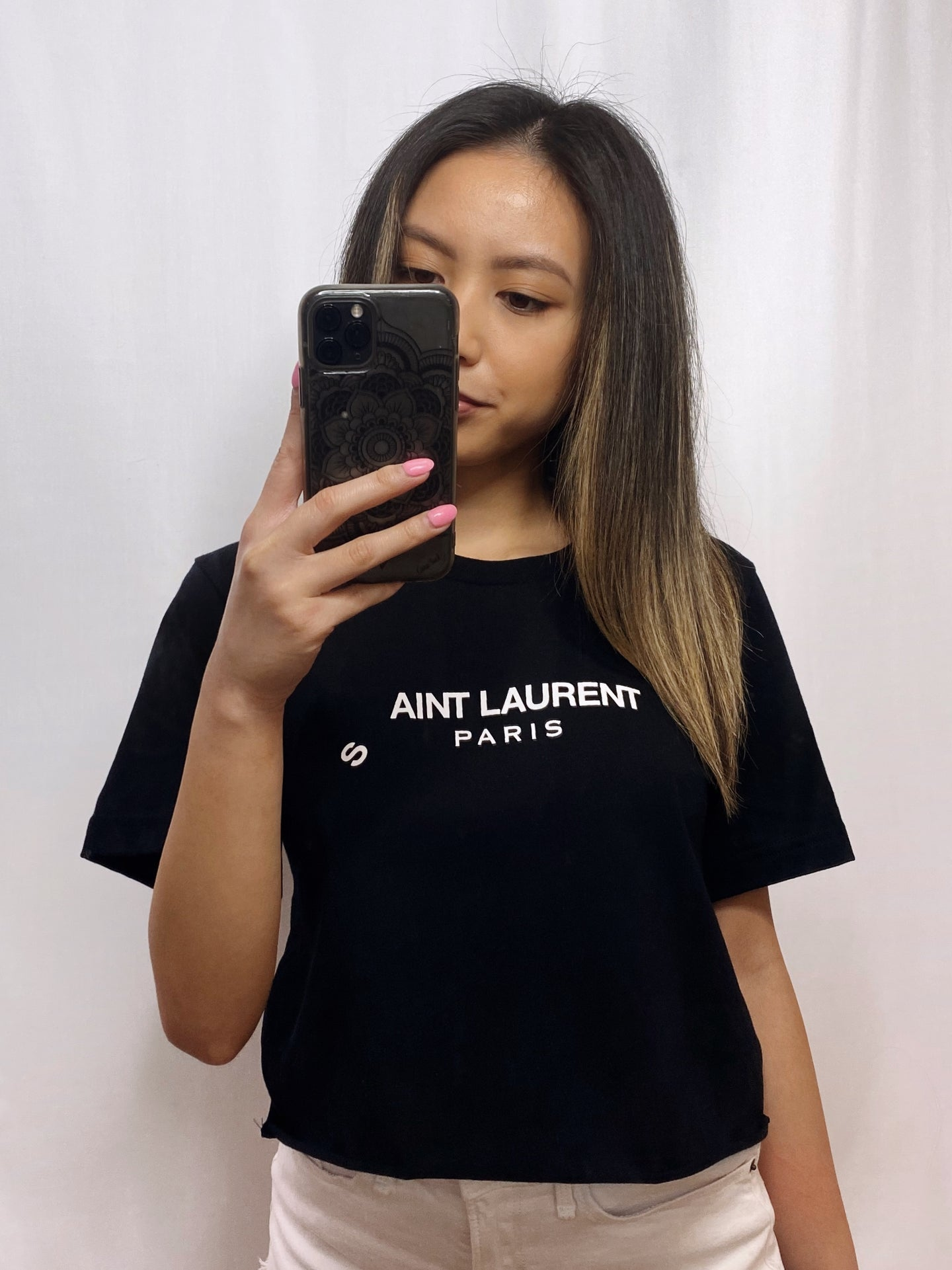 SAINT Graphic Crop Tee