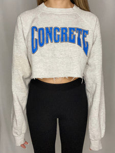 CONCRETE Cropped Sweatshirt