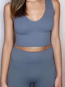 Celestite Crop Top