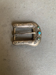 Maisels/Fred Harvey Era Sterling Turquoise Buckle