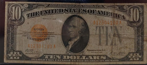 1928 $10 Gold Certificate.  Own a piece of history!