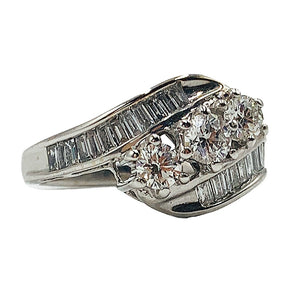 1.30 CTW three-stone diamond ring 14k white gold