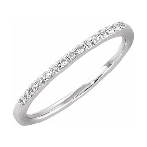 Diamond Wedding Band 1/8 ctw 14k