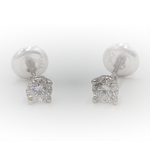 Website Special - 14k White Gold 1/2ctw Diamond Stud Earrings