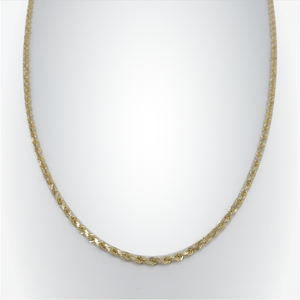 "Diamond Cut Rope Chain 10k 28"" 4mm"