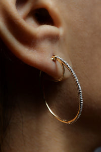 1/3 ctw Diamond Double Hoop Earrings
