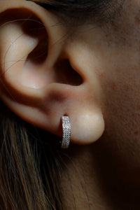 1/5 ctw Diamond Mini Hoop Earrings