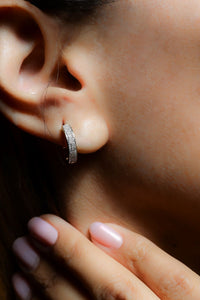 1/4 ctw Diamond Hoop Earrings