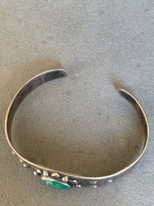 Fred Harvey Era Sterling Bracelet Turquoise
