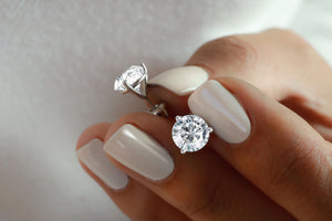 4 ctw Diamond Stud Earrings