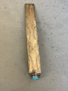 Native American Sterling Turquoise Book Mark