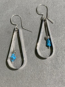 Jeremy Harrison Navajo Turquoise Sterling Silver Earrings