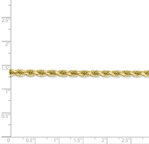 Solid Diamond Cut Rope Chain 10k 4mm 28""