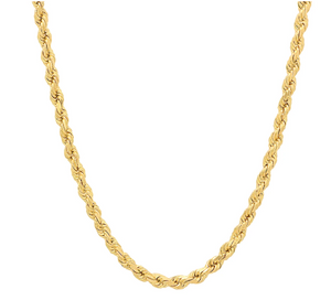 Solid Diamond Cut Rope Chain 10k 5mm 28""