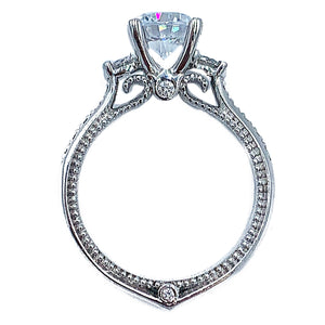 1.50CTW 18kt Verragio white gold diamond engagement ring w/ 1.00 CT center diamond