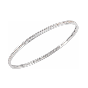 14k Gold 2.25ctw Diamond Stackable Bangle