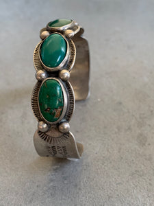 Maisel /Fred Harvey Era Sterling Turquoise Cuff