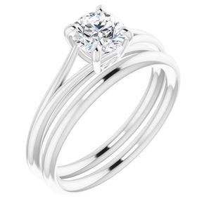 Split Shank Diamond Solitaire Engagement Ring 0.75 ct
