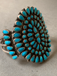Johnny Mike Begay Navajo Sterling Silver Turquoise Cluster Bracelet